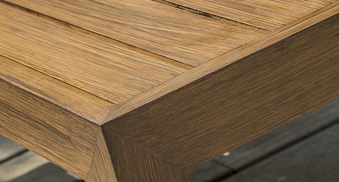 aluminium marron aspect bois