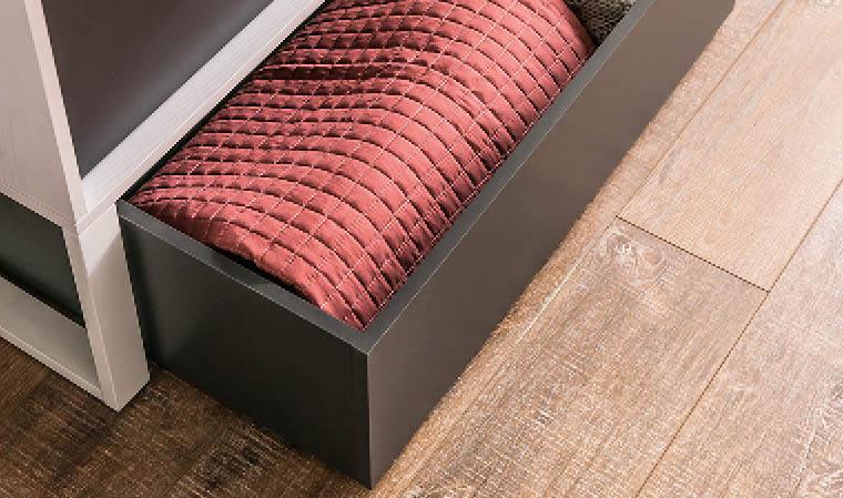 Meuble de rangement bas avec grand tiroir