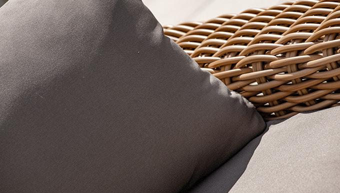 tissu et résine tressée