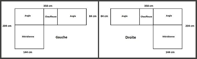 Dimensions salon bas modulable