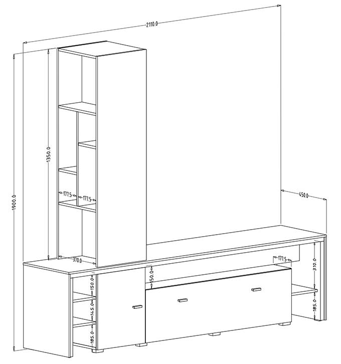 dimensions meuble quito