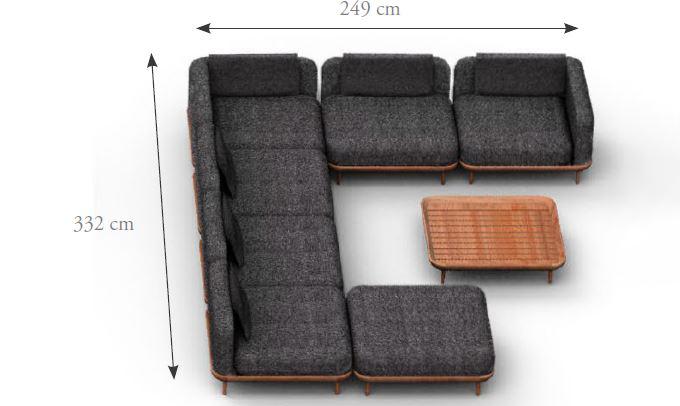 dimensions salon angle