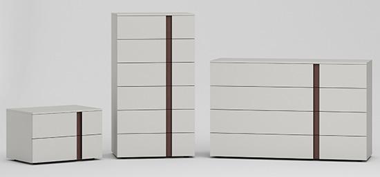 meuble pour chambre design gris perle et chêne