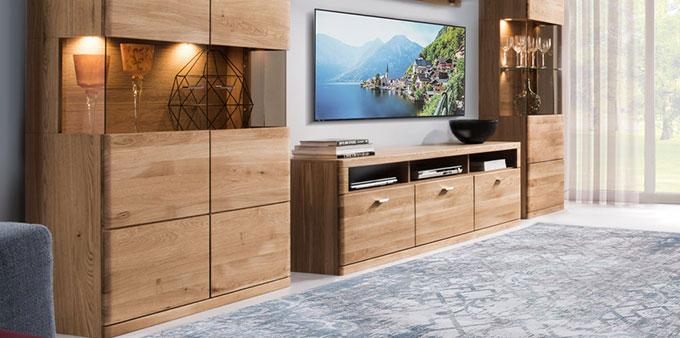 meuble tv contemporain en chêne