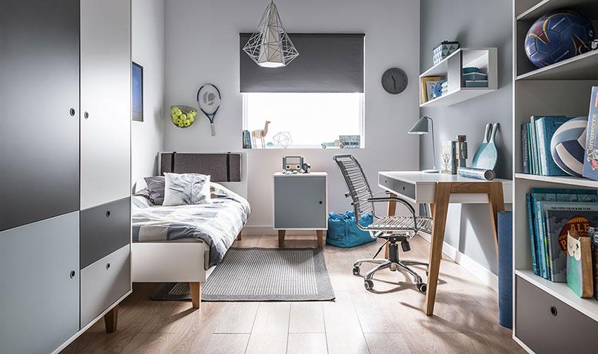 meuble gris pour chambre enfant