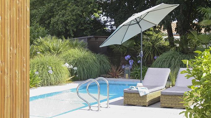 parasol inclinable
