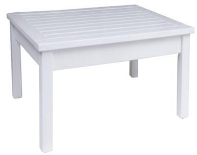 Table jardinc carrée blanche en bois massif